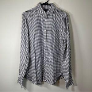 Vince Black & White Stripe 100% Cotton Long Sleeve Button Down Shirt Size M